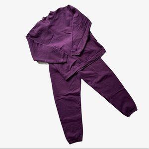 Vintage Purple Sweatsuit Matching Crew & Joggers